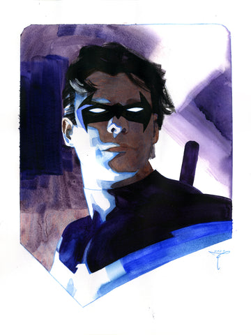 Clara Tessier Original Art Nightwing 'Batman Heroes & Villains Collection' Illustration