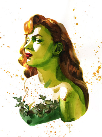 Clara Tessier Original Art Poison Ivy 'Batman Heroes & Villains Collection' Illustration
