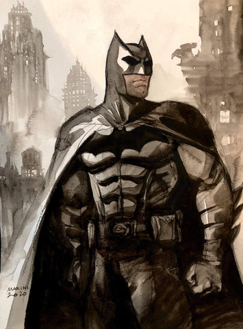 Enrico Marini Original Art Batman Illustration