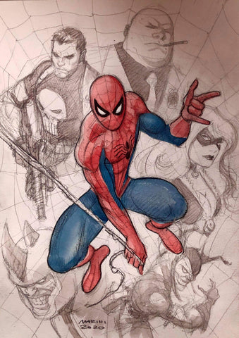 Enrico Marini Original Art Spider-Man Cover Study