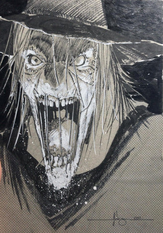 Javier Fernandez Original Art Scarecrow Illustration