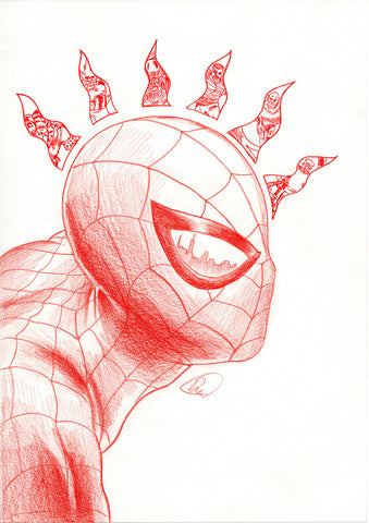 Doaly Original Art Spider-Man Poster Illustration