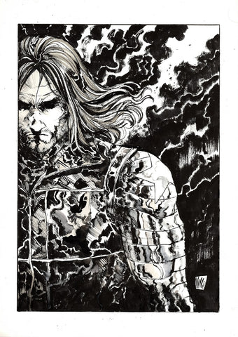 Vincenzo Riccardi Original Art Winter Soldier A3 Illustration