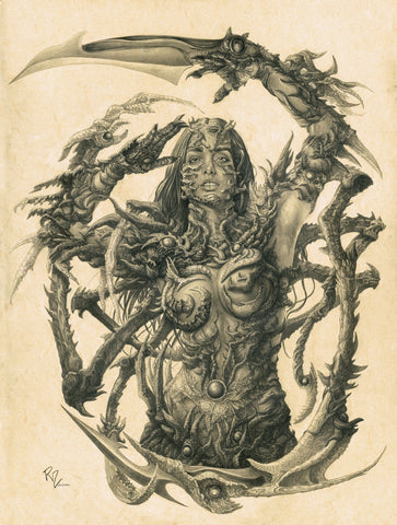 Pepe Valencia Original Art Mega Sized Witchblade Graphite Illustration