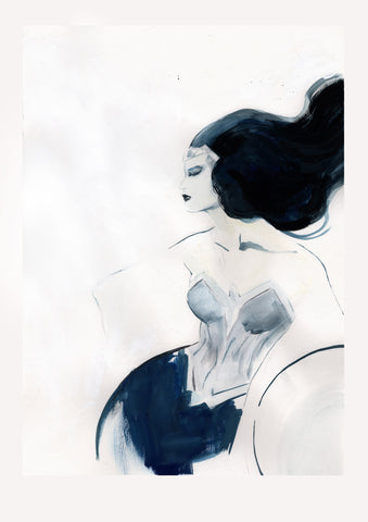 Helena Masellis Original Art Wonder Woman Minimalistic Collection