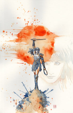 David Mack Original Art Xena: Warrior Princess #1 Cover