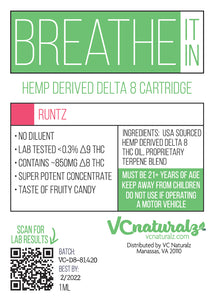 VC Naturalz - Breathe It in - D8 Cartridge