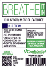 Load image into Gallery viewer, VC Naturalz - Breathe It In Full Spectrum Cartridge