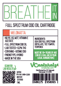 VC Naturalz - Breathe It In Full Spectrum Cartridge