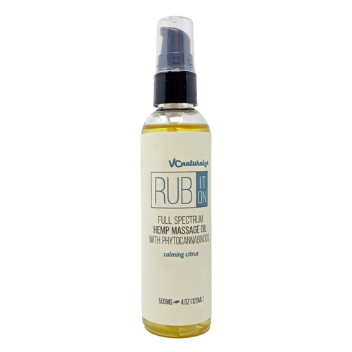 VC Naturalz - Rub It On - Full Spectrum Massage Oil - Calming Citrus
