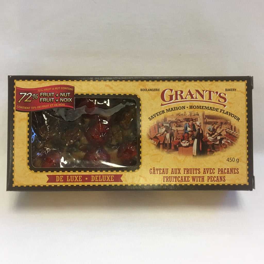 Deluxe fruitcake with pecans, loaf, in Grant's box, 450g