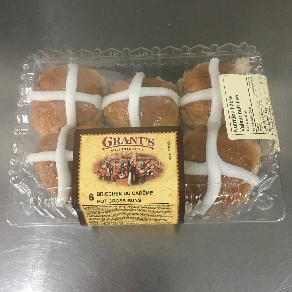 Hot Cross Buns (x6)