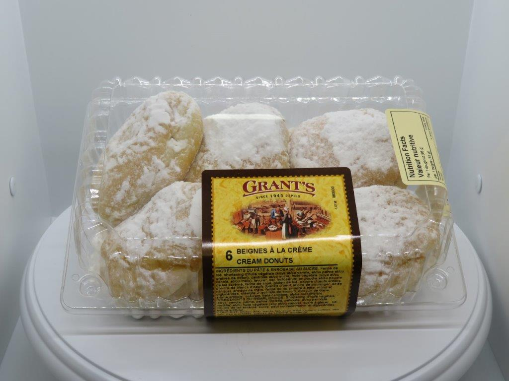 Filled donuts - Cream, 6/pkg