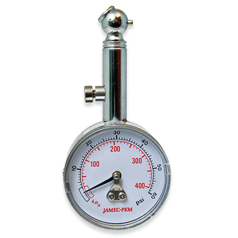 DIAL TYRE GAUGE WITH ANGLED CHUCK
