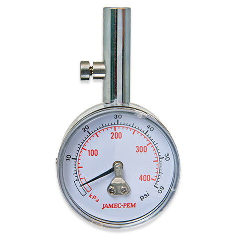 DIAL TYRE GAUGE WITH STRAIGHT CHUCK