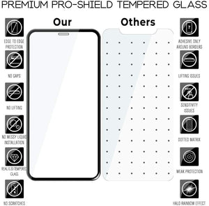 iPhone XR Screen Protector Glass Full Cover ProShield Edition [2 Pack]