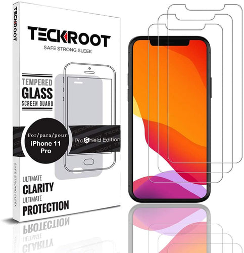 iPhone 11 Pro Tempered Glass Screen Protector ProShield Edition [ 3 PACK ]