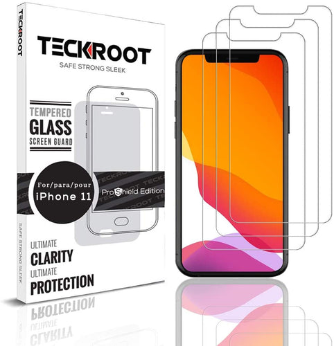 iPhone 11 Tempered Glass Screen Protector ProShield Edition [ 3 pack ]