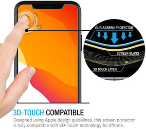 Phone 11 Pro Max Tempered Glass Screen Protector ProShield Edition [ 3 PACK ]