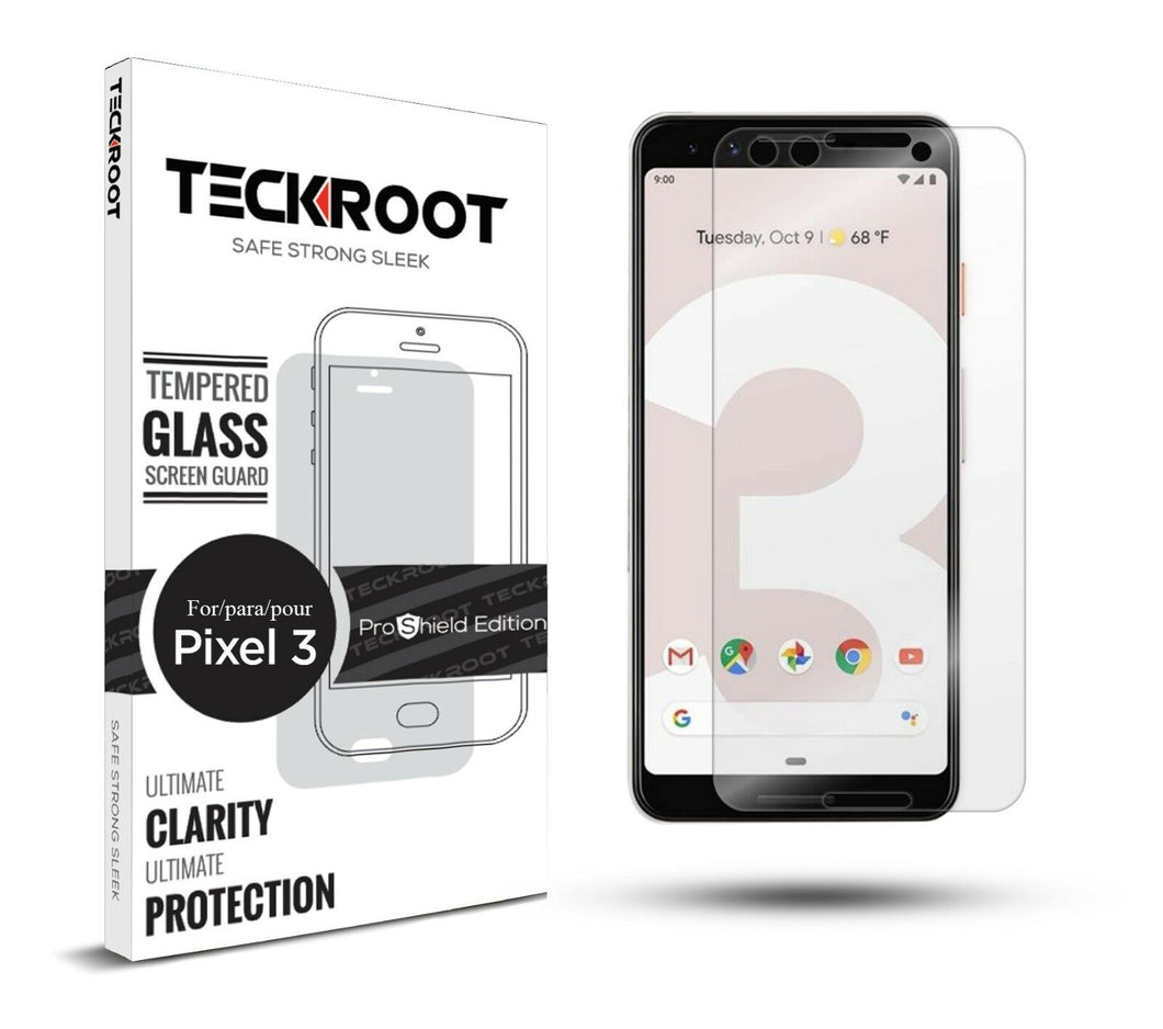 Google Pixel 3 Tempered Glass Screen Protector ProShield Edition [2 Pack]