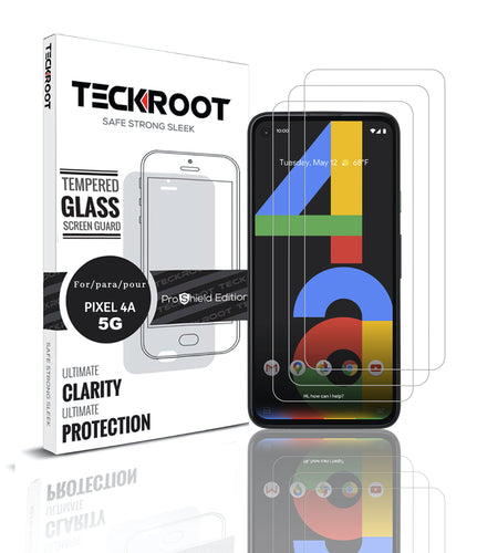 Pixel 4A 5g Tempered Glass Screen Protector ProShield Edition [3 Pack]