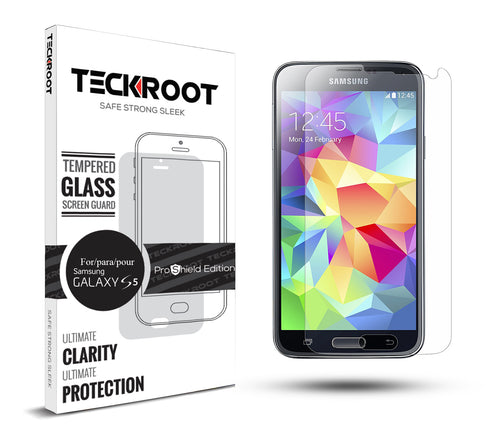 Galaxy S5 Tempered Glass Screen Protector ProShield Edition