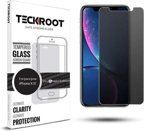 iPhone XR Privacy Tempered Glass Screen Protector ProShield Edition [2 Pack]