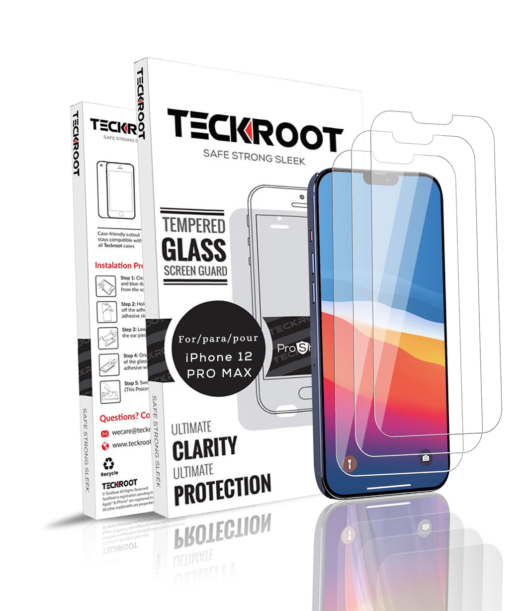 iPhone 12 Pro Max Tempered Glass Screen Protector ProShield Edition [ 3 pack ]
