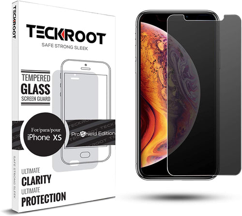 iPhone XS Privacy Tempered Glass Screen Protector ProShield Edition [2 Pack]