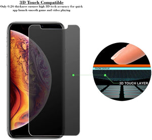 iPhone XS Max Privacy Tempered Glass Screen Protector ProShield Edition [2 Pack]