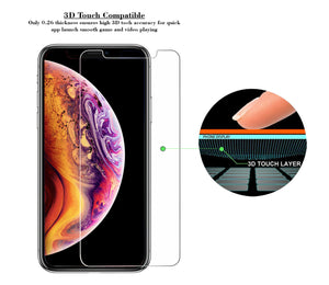 iPhone XS Tempered Glass Screen Protector ProShield Edition [ 3 pack ]
