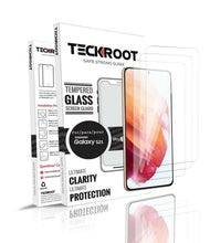 Cargar imagen en el visor de la galería, Samsung Galaxy S21 Tempered Glass Screen Protector ProShield Edition [3 pack]