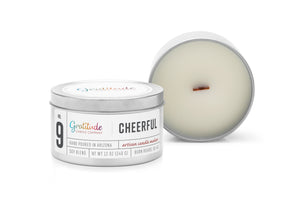 NO. 09 CHEERFUL Wooden Wick Soy Blend Candle