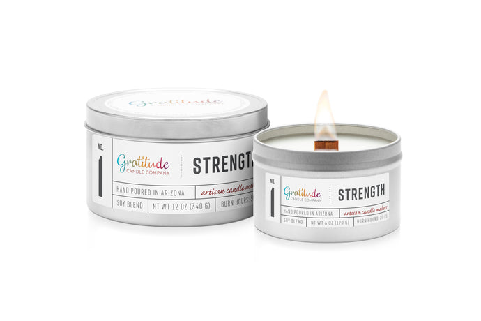 NO. 01  STRENGTH Wooden Wick Soy Blend Candle