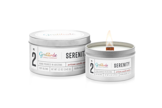 NO. 02  SERENITY Wooden Wick Soy Blend Candle