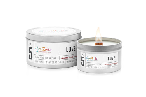 NO. 05 LOVE Wooden Wick Soy Blend Candle
