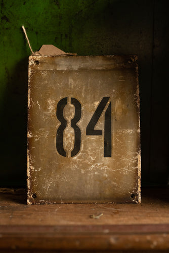 Industrial Enamel House Numbers
