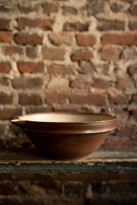 Brown Medium Baking Bowl with Spout