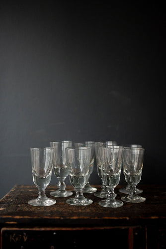 Set of 8 French Wine glasses