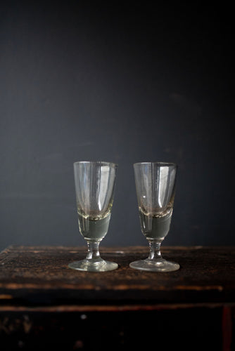 Pair of French Wine glasses