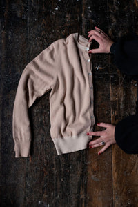 Fawn two tone Cashmere Cardigan