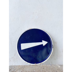 Arrow Enamel Sign