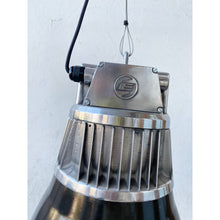 Load image into Gallery viewer, Large Black Enamel & Aluminium Factory Pendant Light