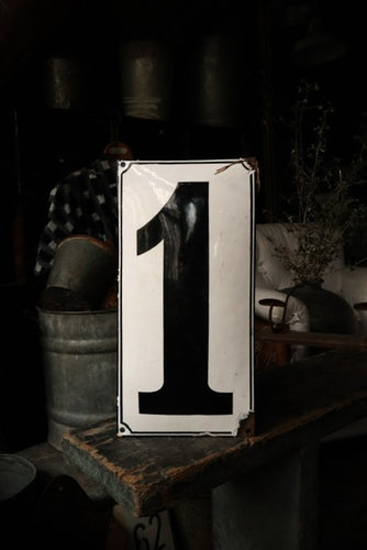 Ex Large Industrial Enamel House Number One