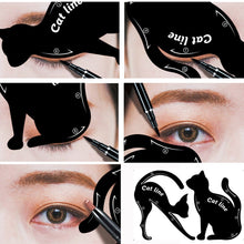 Load image into Gallery viewer, 2 Piece Cat-Shaped Eye Make-Up Stencil