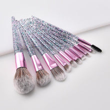 Load image into Gallery viewer, 10-Piece Crystal Glitter Pro Make-Up Brushes
