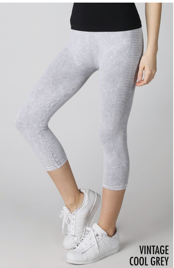 PERFORATED SIDE WASHED LOOK ATHLETIC PANTS