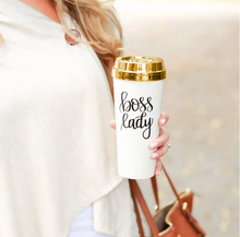 Load image into Gallery viewer, Boss Lady Gold Travel Mug