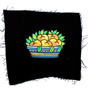 'Bowl of Fruit' hand painted Patch