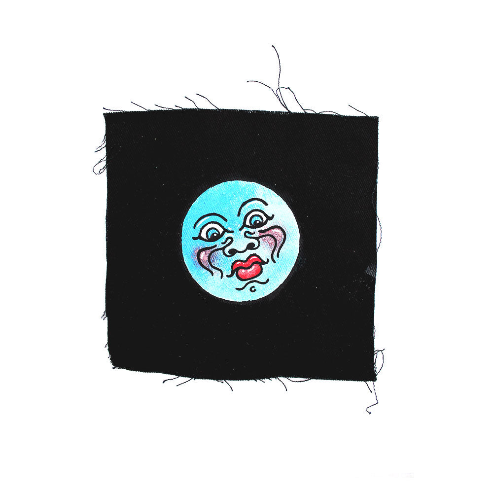 'Moon' hand painted Patch